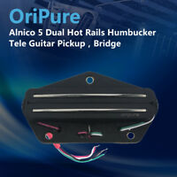 OriPure Alnico 5 Dual Hot Rail Humbucker Bridge Pickup for Tele Electric Guitar