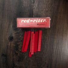 Vintage Welding Red Riter Thermacote Welco Welder Marker Sticks Red Flat