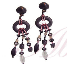 The Double Loop Black Clip Earrings from the Black Collection by Lalo Orna