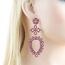 Fashion Hot Pink Austrian Crystal Rhinestone Chandelier Dangle Earring E119p