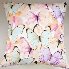 """Colourful Bright Pastel Butterfly Butterflies Shabby Chic Cushion Cover 16"""""""