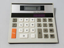 Vintage Solar Dual Power Electronic Calculator Made in Hong Kong Tested & Works