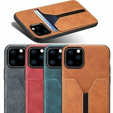 For iPhone 11 Pro Max XR 8 7 6 Leather Wallet Credit Card Slot Pocket Case Cover