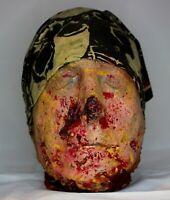 Severed Biker head halloween haunt prop scary realistic