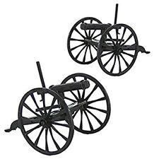 BM Pair Of Plastic Western American Civil War Gatling Guns NEW In Bag!!