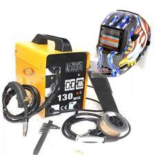 MIG-130 Flux Core Auto Wire Welder Machine w/Cooling & US Eagle Welding Helmet