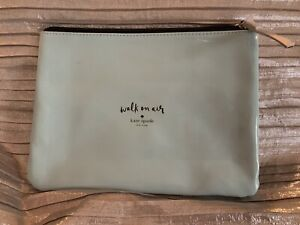 KATE SPADE- WALK ON AIR- Shiny Soft Blue Pouch/ Cosmetic bag Brand New W zipper