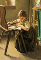 Old Fashioned School Girl by Simon Glucklich