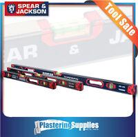 Spear & Jackson 600mm+800mm+1200mm Heavy Duty Spirit Box Level Combo