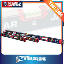 Spear & Jackson 600mm+800mm+1200mm Heavy Duty Spirit Box Level Combo