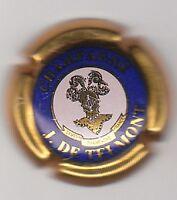 capsule champagne J. DE TELMONT, cercle bleue et contour or