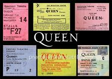 QUEEN FREDDIE MERCURY REPLICA GIG TICKETS 1970s/1980s WEMBLEY EXCLUSIVE A4 PRINT