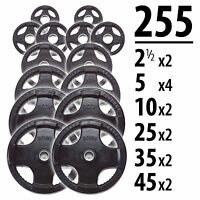 255 lbs of Rubber Grip Olympic Weight Plates - Body-Solid ORST255