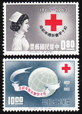 China Sct #1375-76 -- 1963 INT'L RED CROSS MINT  !!