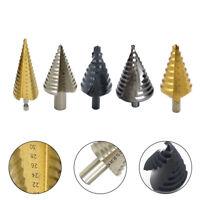 4-32mm HSS Titanium Hex Shank Step Cone Drill Bit Hole Saw Cutter Tool 6 Type