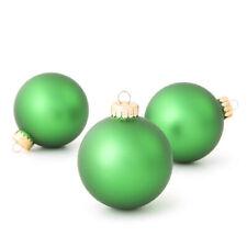 Darice Christmas Bulbs: Matte Christmas Green, 67 millimeters, 8 pieces w