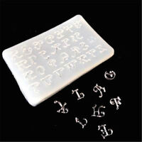 letters Silicone Mould DIY Resin Decorative Craft Jewelry Making resin molds Jf