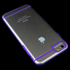 For Apple iPhone 6S Plus/6 Plus Ultra Thin Crystal TPU Bumper Case+Glass Screen