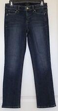 Women's WHITE HOUSE BLACK MARKET Blue Blanc Capri Jeans Sz 2