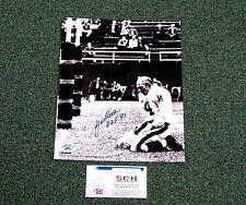 "Y.A. Tittle Signed 11x14 B/W BLOODSHOT PHOTO W/ ""HOF 71"" Inscription  SCH"