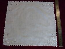 N26 ANCIEN MOUCHOIR batiste brodé Monogr GB Old veil embroidered handkerchief