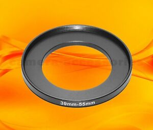 39mm to 55mm 39-55 Stepping Step Up Filter Ring Adapter 39-55mm 39mm-55mm (UK)
