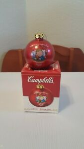 Vintage Collectible 2001 Campbell's Soup Ball Christmas Ornament
