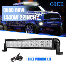 """QUAD ROW CREE 22INCH 1440W LED Work Light Bar Combo Offroad Jeep Frod 4X4WD 24"""""""