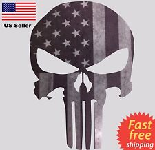 Subdued Flag Punisher Sticker Military Gun USA American Decal FAST FREE SHIPPING