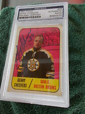 GERRY CHEEVERS HAND SIGNED 1967 TOPPS CARD PSA ENCAPSULATED