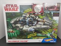 Star Wars Millennium Falcon Hot Wheels Track Set- Character Cars- Disney