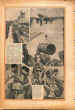 Pont Iéna/Grosvenor house race London Melbourne/Rio de Janeiro 1934 ILLUSTRATION