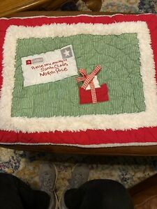 Pottery Barn Kids Christmas Sham Please Delivery To Santa Pillow Sham 26 X20
