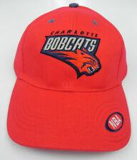CHARLOTTE BOBCATS ALL RED NBA ADJUSTABLE STRAP-BACK ELEVATION CAP HAT NEW!