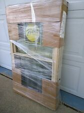 NEW: Vinyl DOUBLE-HUNG Home WINDOW w/ Obscured & Tempered Glass  (28