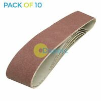 10 Pack Sanding Belts 100 x 915mm (80 Grit) Compatible with Draper Belt Sander