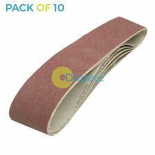 10 Pack 100x915mm 80G Sanding Belt 100 X 915 mm Sander 100 x 915mm