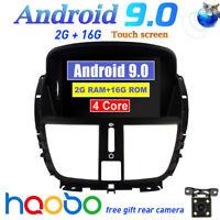 Android 9.0 Car GPS Navigation Dash Stereo player Nav for Peugeot 207 2008-2014