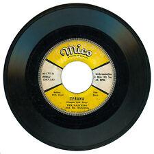 Phil TEX SALCEDO & HIS ORCHESTRA Terana (Visayan Folk Song) OPM 45 rpm Record