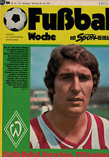 Fußball Woche 31/1975,Bundesliga,Assauer,River Plate,PELE FARBBILD,Hel. Benthaus