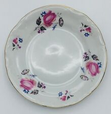 Chodziez Poland CHZ3 Bread And Butter Plate (s) Pink Roses Lavender & Blue
