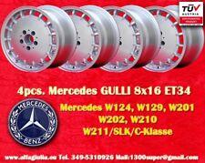 4 Cerchi Mercedes Gulli 8x16 ET34 W124 129 201 203 208 210 Felgen TÜV wheels