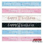 FOIL BANNER Birthday Party BANNERS Milestone Decorations 9ft Glitz 13th-100th