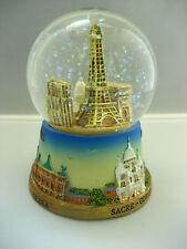 Eiffel tower large snow globe Paris souvenirs of France
