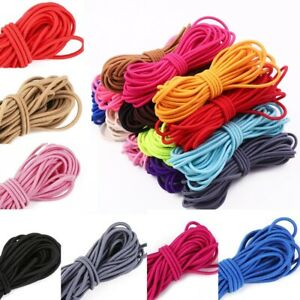 5M 2.5mm Round Elastic Thread Cord Rope Rubber Band Elastic Bands Stretch  Line