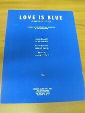 Vintage Sheet Music Love Is Blue Paul Mauriat Orchestra 1968