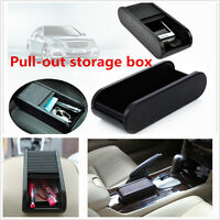 Interior Armrest Storage Box Holder Car Roll Plastic Pocket Sliding Dash Phone