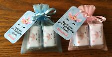 Unicorn 6 shower, Hershey mini bars party favors with organza bags personalize