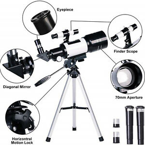 Portable F30070 Astronomical Reflector Telescope With Tripod for Astronomy