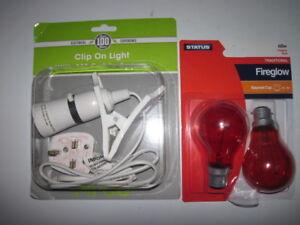 Chick brooder kit Heat basking Lamp 2 x 60 Watt Red Bulbs 4 Chick Quail chickens